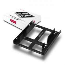 "AXAGON RHD-225, kovový rámeček pro 2x 2.5"" HDD / SSD do 3.5"" pozice, montáž ventilátoru"