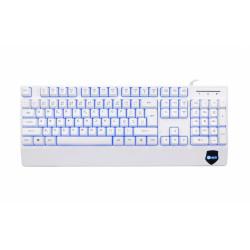 C-TECH CZ / SK KB-104W USB, 3 barvy podsvícení, bílá