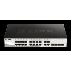 D-Link DGS-1210-20 L2 L3 Smart+ switch, 16x GbE, 4x RJ45 SFP, fanless