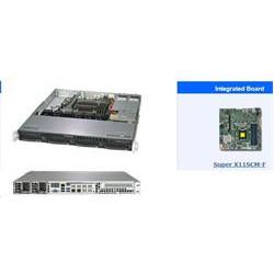 "SUPERMICRO 1U server 1xLGA1151 (8 9g), iC236, 4x DDR4 ECC, 4x 3.5"" HS SATA3, 2x400W, IPMI"