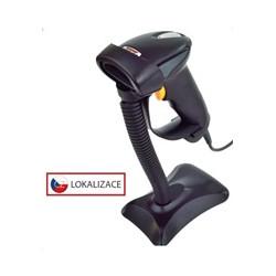 Virtuos CCD čtečka HT-310A s dlouhým dosahem, USB (klávesnice RS232),stojánek , černá
