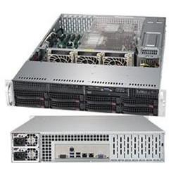 """SUPERMICRO 2U server 2x LGA3647, iC621, 16x DDR4 ECC R, 8x SATA3 HS (3,5""""), 2x1GbE, 2x 1000W(80+titanium), IPMI, LPB"""
