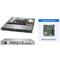 "SUPERMICRO 1U server 1x LGA1151 (8 9g), iC236, 4x DDR4 ECC, 4x 3.5"" HS SATA3, 350W, IPMI"