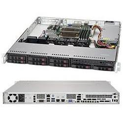 "SUPERMICRO 1U server 1x LGA1151, C236, 4x DDR4 ECC, 8x 2.5"" HS SAS SATA, 340W (80+ Platinum), IPMI"