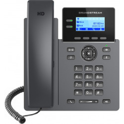 """Grandstream GRP2602 SIP telefon, 2,21"""" LCD podsv. displej, 4 SIP účty, 2x100Mbit port"""