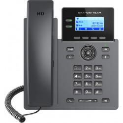 "Grandstream GRP2602P SIP telefon, 2,21"" LCD podsv. displej, 4 SIP účty, 2x100Mbit port, PoE"