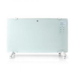 Nedis HTPL20FWT - Konvekční Ohřívač se Skleněným Panelem | Termostat | LCD Displej | 2 Nastavení Teploty | Stojící Montáž na stě