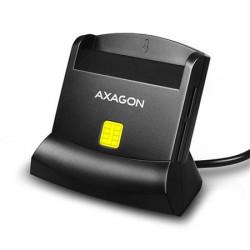 AXAGON CRE-SM2, USB externí čtečka 4-slot Smart card ID card (eObčanka) + SD microSD SIM