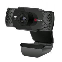 C-TECH webkamera CAM-11FHD, 1080P, mikrofon, černá