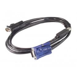 APC - Kabel video / USB - USB, HD-15 (VGA) (M) do HD-15 (VGA) (M) - 7.6 m - pro APC 16 Port Multi-Platform Analog KVM, 8 Port Multi-Platform Analog KVM