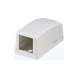 Panduit MINI-COM - Krabice kupevnění na povrch - bílá - 1 port