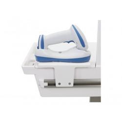 Ergotron T-Slot Scanner and Printer Holder - Upevňovací komponent (držák) - pro skener tiskárna čárových kódů - bílá - lze připevnit na vozík - pro P N: C50-2500-0, C50-2510-0