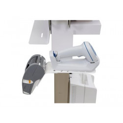 Ergotron Slim 2.0 - Upevňovací komponent (držák) - pro čtečká čárových kódů - zdravotní - bílá - montáž na bok košíku - pro CareFit Slim 2.0