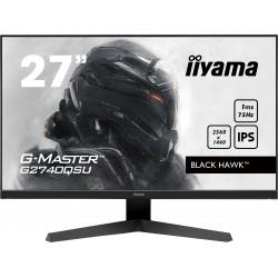 """27"""" iiyama G-Master G2740QSU-B1: IPS, WQHD@75Hz, 1ms, HDMI, DP, USB, FreeSync, černý"""