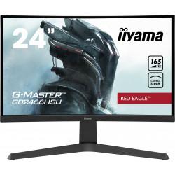 "24"" iiyama G-Master GB2466HSU-B1: VA, FullHD@165Hz, 1ms, HDMI, DP, USB, FreeSync, zakřivený, height"
