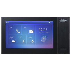 """DAHUA Bytový monitor IP touch 7"""" 1024x600 Ethernet PoE 802.3af paměť CZ menu černý"""