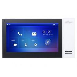 """DAHUA Bytový monitor IP touch 7"""" 1024x600 Ethernet PoE 802.3af paměť CZ menu bílý"""
