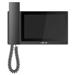 """DAHUA Bytový monitor IP se sluchátkem touch 7"""" 1024x600 Ethernet+WiFi PoE 802.3af paměť CZ menu černý"""