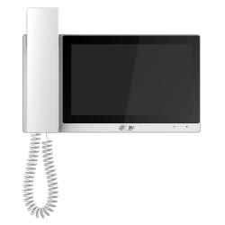 """DAHUA Bytový monitor IP se sluchátkem touch 7"""" 1024x600 Ethernet+WiFi PoE 802.3af paměť CZ menu bílý"""