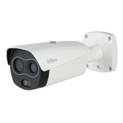 DAHUA termální duální IP kamera termo 256x192 f=7mm(24st) vizuál 2Mpix 8mm(40st) IR50m analytiky