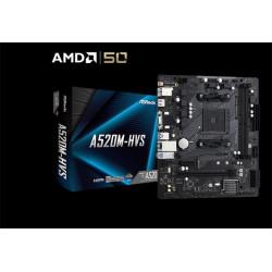 ASROCK MB A520M-HVS (AM4, amd A520, mATX, 2xDDR4 4733+, VGA+HDMI)