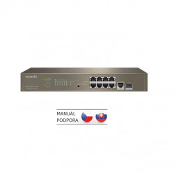 Tenda TEG5310P-8-150W Gigabit L3 PoE Switch 130W, 8x 1Gb s PoE, 2x RJ45 SFP, STP, IGMP, VLAN, Rack