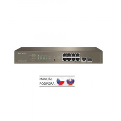 Tenda TEG5310P-8-150W - L3 managed Gigabit PoE AT Switch, 8x PoE AF AT 10 100 1000Mbps, 1xSFP 1Gbps