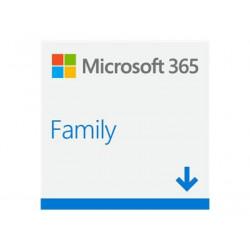 Microsoft 365 Family - Licence na předplatné (1 rok) - až 6 uživatelů - ESD - 32 64 bitů, Click-to-Run - Win, Mac - všechny jazyky - Eurozóna