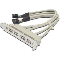 PremiumCord USB vývod z MB na záslepku (4x typ A) spec. zapojení