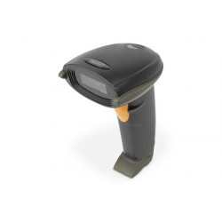 DIGITUS Ruční skener čárových kódů 1D obousměrný 200 skenů s, 2 m kabel USB-RJ45