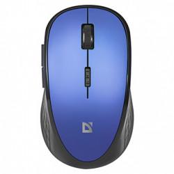 Defender Myš Aero MM-755, 1600DPI, 2.4 [GHz], optická, 6tl., 1 kolečko, bezdrátová, černo-modrá, 2 ks AAA, tiché levé a pravé tlač