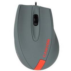 CANYON myš drátová M-11, 3 tlacítka, 1000dpi, pogumovaný povrch, modrá - šedé logo