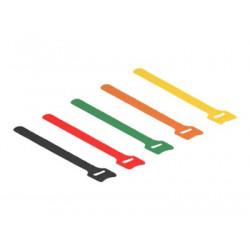 DeLOCK - Háček se smyčkou - 20 cm - černá, žlutá, červená, zelená, oranžová (balení 10)