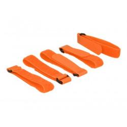 DeLOCK - Háček se smyčkou - 30 cm - oranžová (balení 5)