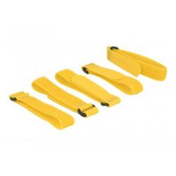 DeLOCK - Háček se smyčkou - 30 cm - žlutá (balení 5)
