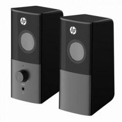 HP reproduktory DHS-2101, 2.0, 12W, černý, regulace hlasitosti, stolní, 3,5 mm jack (USB)