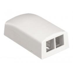 Panduit NetKey Surface Mount Boxes - Krabice kupevnění na povrch - arktická bílá - 2 porty - pro P N: LD3IW10-A, LD3IW6-A, LD3IW8-A, LD5IW10-A, LD5IW8-A