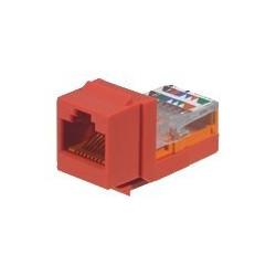 Panduit NetKey - Modul - červená - 1 port