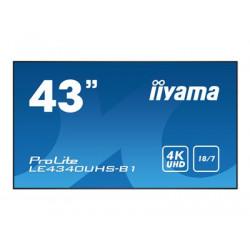 """iiyama ProLite LE4340UHS-B1 - 43"""" Třída úhlopříčky (42.5"""" zobrazitelný) LED displej - digital signage - Android - 4K UHD (2160p) 3840 x 2160 - matná čerň"""