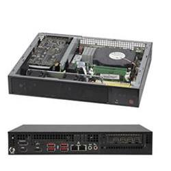 SUPERMICRO mini server LGA1200, W480E, 2x SO-DIMM DDR4, 2x SATA 1(2)x 2,5, M.2, 2x 1Gb, HDMI,DP,DVI, 180W zdroj