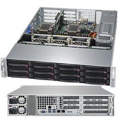 "SUPERMICRO 2U server 2x LGA3647, iC621, 12x DDR4 ECC R, 8x SATA3 HS (3,5""), 2x1GbE, 2x 1000W(80+titanium), IPMI, WIO"
