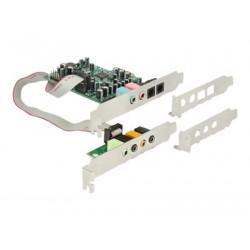 Delock - Zvuková karta - 24 bitů - 192 kHz - 92 dB SNR - 7.1 - PCIe - CM8828+CM9882A