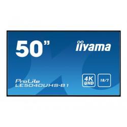 "iiyama ProLite LE5040UHS-B1 - 50"" Třída úhlopříčky LED displej - digital signage - 4K UHD (2160p) 3840 x 2160 - matná čerň"
