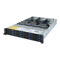 Gigabyte server R282-Z93 2xSP3 (7002), 32x DDR4 DIMM,12x 3,5 4xNVMe op, 3GPU opt,M.2, 2x 1GbE+2xOCP, IPMI, 2x 2000Wp