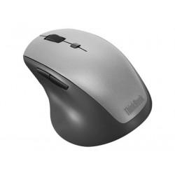 Lenovo ThinkBook Wireless Media - Myš - ergonomický - pravák - optický - 6 tlačítka - bezdrátový - 2.4 GHz - bezdrátový přijímač USB - černá - pro ThinkCentre M70; M75q Gen 2; M90; ThinkPad E14 Gen 2; V30a-22; V30a-24; V50t-13