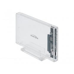 "Delock External Enclosure for 2.5"" SATA HDD SSD with USB Type-C - Kryt úložiště - 2.5"" - SATA 6Gb s - 600 MBps - USB 3.2 (Gen 2) - průhledná"