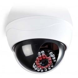 NEDIS atrapa bezpečnostní kamery s infračervenou LED dome IP44 venkovní i vnitřní bílá