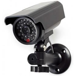 NEDIS atrapa bezpečnostní kamery s blikající LED bullet IP44 venkovní černá