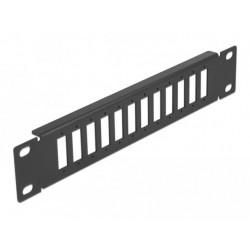"""Delock 10"""" patch panel pro optická vlákna, 12 portů, pro SC Duplex LC Quad, 1U, černý"""
