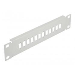 """Delock - Patch panel (záslepný) - montáž do racku - šedá - 1U - 10"""" - 12 portů"""